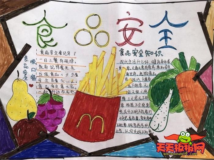 食品安全手抄報簡單又漂亮,安全食品手抄報怎么畫